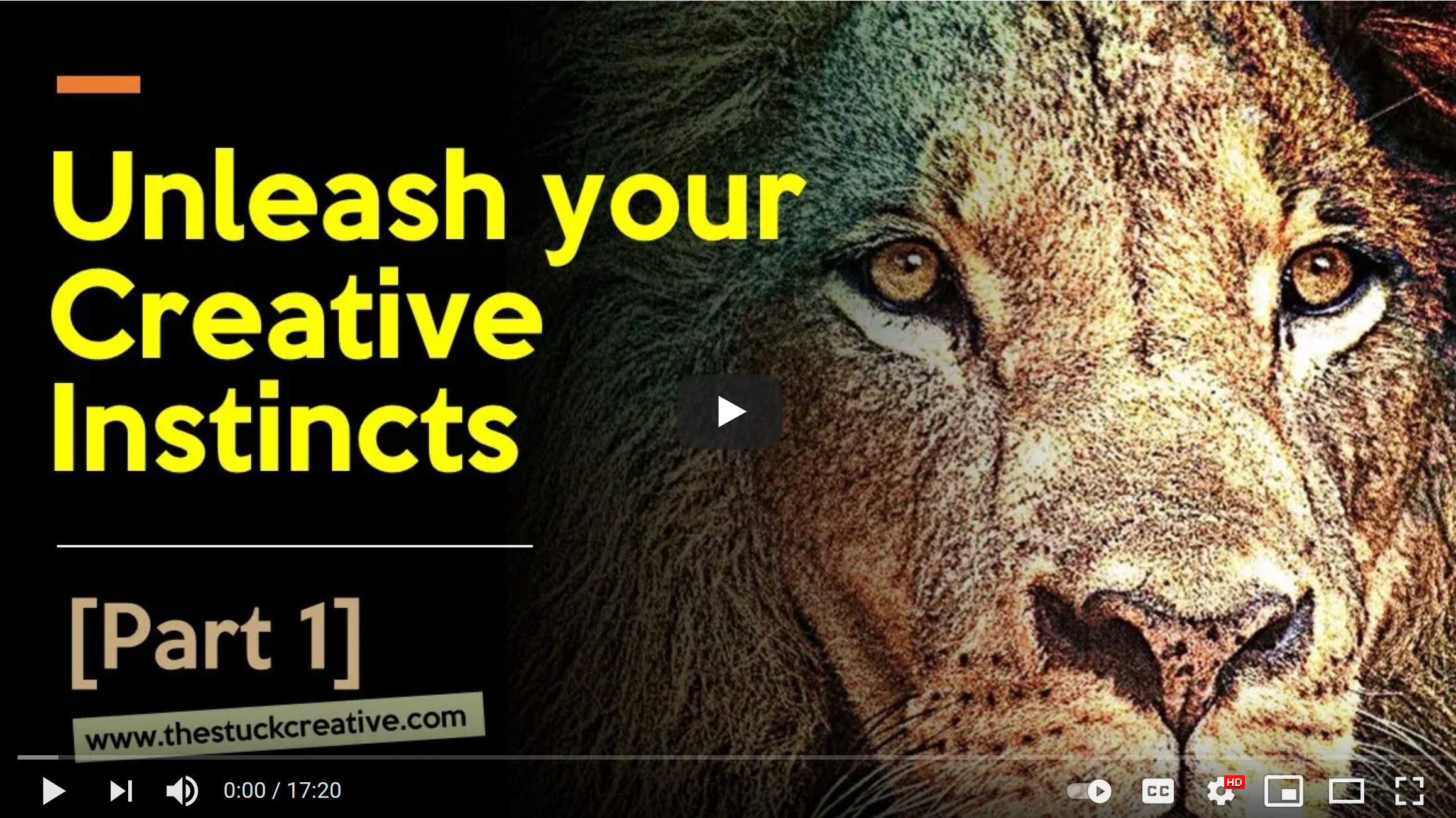 [Video] USE YOUR CREATIVE INSTINCTS – Part 1 & Part 2