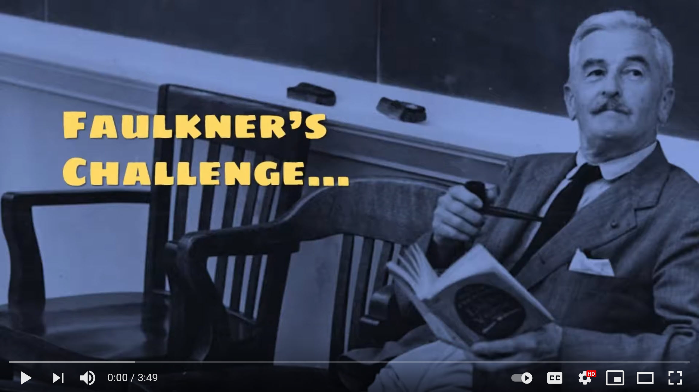 [Video] Faulkner's Challenge – Does your work match his goals?